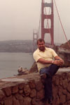 By the Golden Gate bridge in San Francisco
